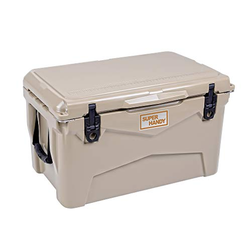 SuperHandy Rotomolded Cooler Ice Chest Enhanced 45QT Keeps...