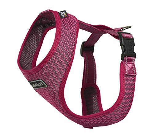Dog Harness Comfort AIR Adjustable Breathable Reflective Choke Free Dog Harness for Small, Medium and Large Dogs (X-Small (Chest: 8.5 - 12.5'), Pink)