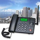 Lychee Teléfono Fijo de Escritorio,WCDMA/GPRS/gsm 4 Bands 3G CuatribandaTeléfono Inalámbrico con Radio función,SIM Dual, Admite Varios Idiomas (Incluido el español),Adecuado para Oficina y Hogar