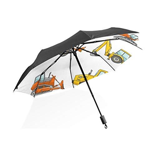Paraguas invertidos Carretilla elevadora, grúa, Excavadora, Tractor, Excavadora, camión Paraguas Plegable portátil...