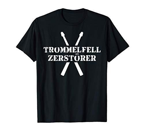 Schlagzeuger Geschenk Lustige Musiker Sprüche Trommelfell T-Shirt