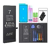 Batería para iPhone 7 2200mah, ButcHer Alta Capacidad Nuevo 0 ciclos Batería de Repuesto con Kit de reparación Completo, Compatible con iPhone 7 Original (APN: A1660, A1778, A1779)