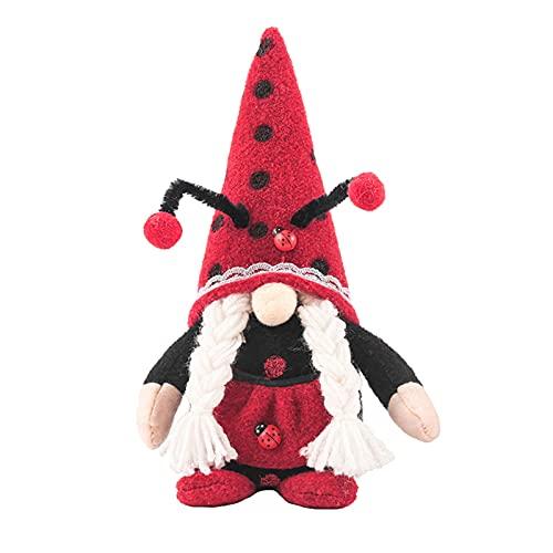 Jishu Lindo Gnomo muñeca de felpa sin rostro muñeca fiesta accesorios con capucha muñeca Home mesa Gnomos decoración para el hogar