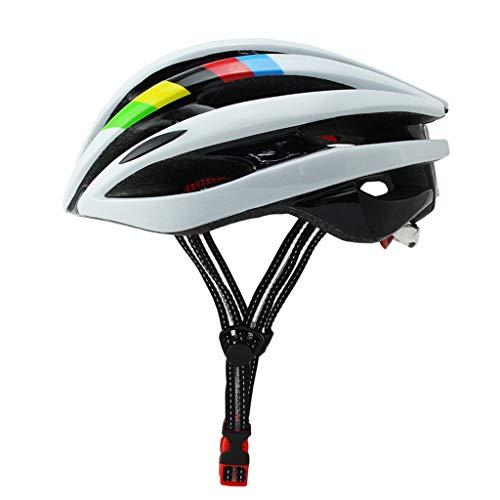 WOWOWO Casco de Bicicleta con luz LED Unisex Casco de Bicicleta MTB con luz LED Gorra de Seguridad para Montar en montaña y Aventura