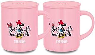 サーモス 保温・保冷マグカップ 真空断熱マグカップ 350ml ライトピンク 同色2個セット JDG-350B | THERMOS ステンレス マグカップ 保温 保冷 フタ付 蓋付き 結露しにくい かわいい オフィス