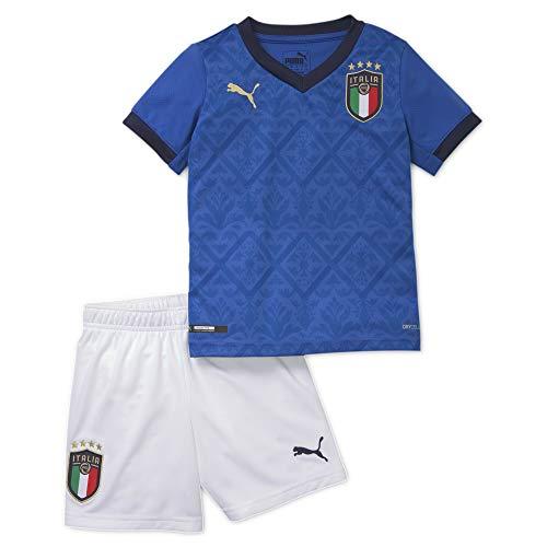 PUMA FIGC Home Minikit, Maglia Calcio Bambino, Team Power Blue/Peacoat, 116