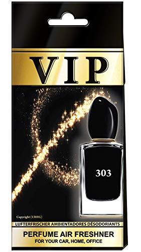 3x Caribi VIP auto luchtverfrisser parfum thuis kantoor geur vergelijkbaar met dure parfum - nr. 303