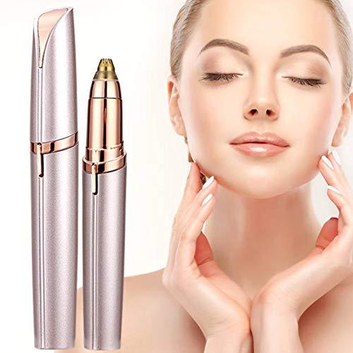 Augenbrauen Rasier, Schmerzloses Augenbrauentrimmer mit eingebautem LED-Licht, Eyebrows Hair Remover, Lippenstift-Design, für die punktgenaue Haarentfernung