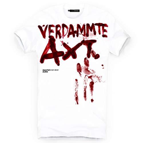 DEPARTED Herren T-Shirt mit Print/Aufdruck 3753-020 - New fit Größe XL, White