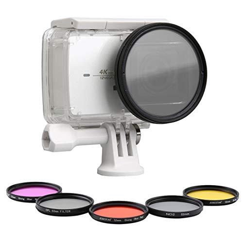 Nkesish HH-7 en 1 Proffesional cámara 52mm anillo adaptador de 52mm + UV + Filtro CPL 52mm Filtro ND2 + 52mm + 52mm de buceo Filtro Rojo + 52mm de buceo Filtro Amarillo + 52mm filtro de la cámara de b