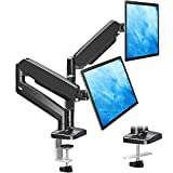 MOUNTUP Dual Monitor Stand - Adjustable Gas Spring Dual Monitor Mount, Monitor Desk Mount with C Clamp, Grommet Mounting Base, Monitor Arm for Computer Screen up to 32 Inch, MU0005