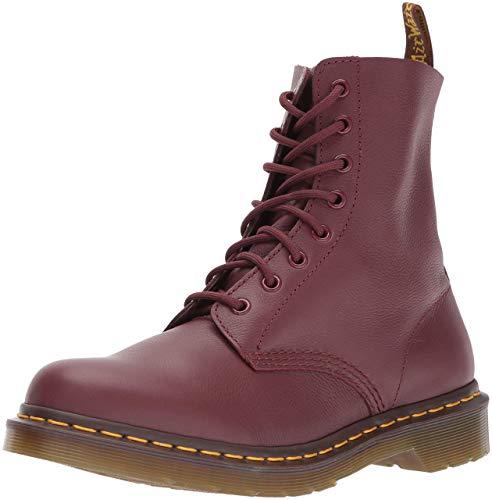 Dr. Martens PASCAL Virginia CHERRY RED, Damen Combat Boots, Rot (Red (Cherry Red Virginia 411)), 42 EU (8 Damen UK)