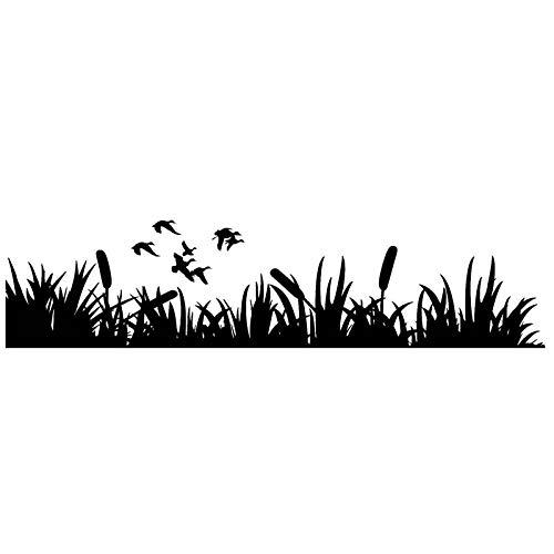 WZHLI Pegatinas de automóviles Caza con Estilo Caza Caza Decoración de Coches Pegatinas Creativa Funda Impermeable Scratch Negro/Blanco, 30 cm X 7 cm (Color Name : Black, Size : 20cmx5cm)