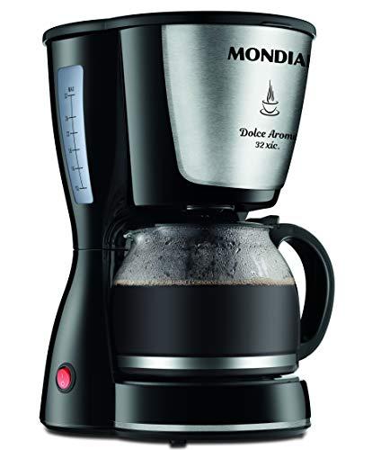 Cafeteira Elétrica Mondial, Dolce Arome Inox, 220V, Preto, 800W - C-32 32X