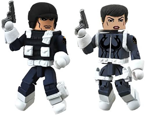 Diamond Select Toys Marvel Minimates Series 51 Marvel Now Maria Hill and Heavy SHIELD Agent Action Figure by Diamond Select