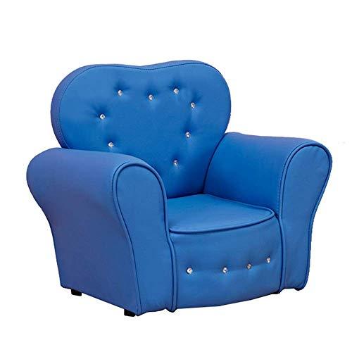 Mozusa Viviendo del Presidente habitación individual Cojines de sofá reclinable Silla infantil Sillón gran regalo for las muchachas y los muchachos for relajarse juego Lounging (Color: Azul, Tamaño: 4
