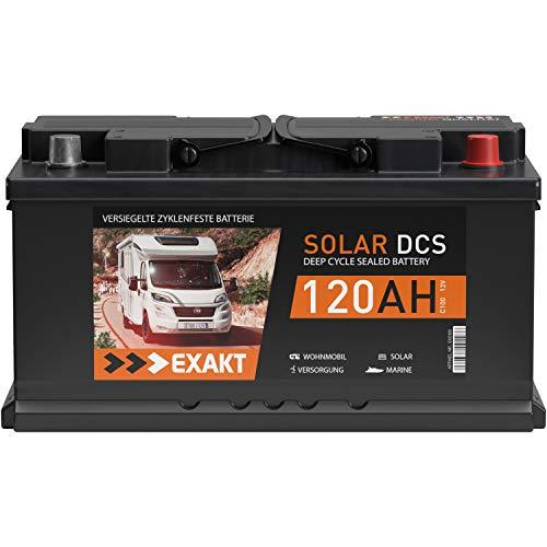 Solarbatterie 120Ah 12V EXAKT DCS Wohnmobil Versorgung Boot Solar Batterie (120AH 12V)