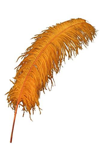 Straußenfeder, klein, orange