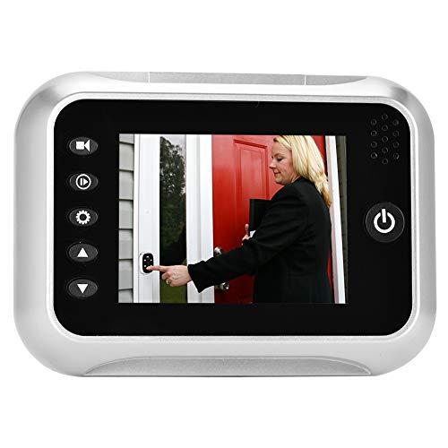 ASHATA Mirilla Digital para Puerta, Mirilla Digital de LCD Pantalla a Color de 3,5 Pulgadas,con 4 IR LED de Visión Nocturna,Timbre de Cámara de Seguridad para Puerta de 35-75 mm de Grosor