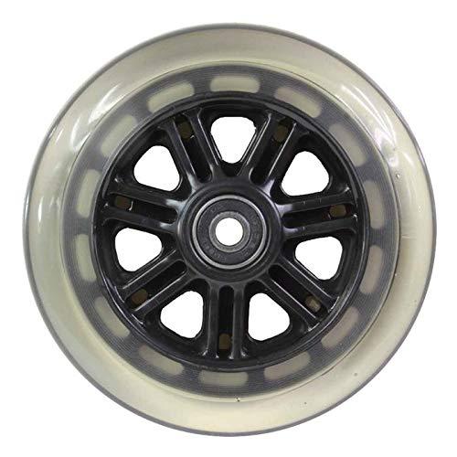 JD Bug - Rueda para patinete (2 pulgadas, incluye cojines), color negro