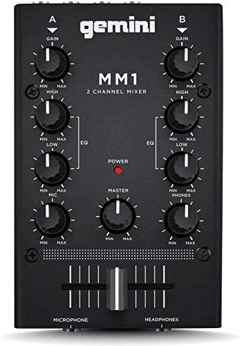 GEMINI MM1 2-Kanal Analog Mini-DJ-Mischpult