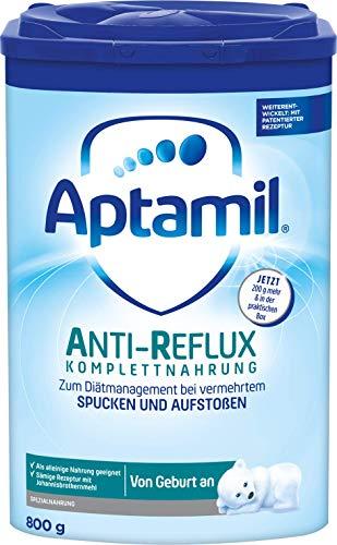 Aptamil Anti Reflux Komplettnahrung, 800g Einzelpackung, zum Diätmanagement bei vermehrtem Spucken und Aufstoßen ab der Geburt, praktische Aufbewahrungsbox