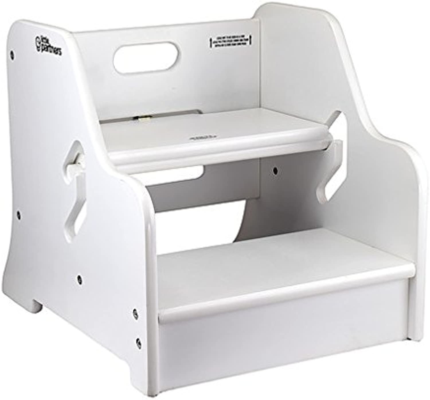 Little Partners Step Up Step Stool (Soft White)