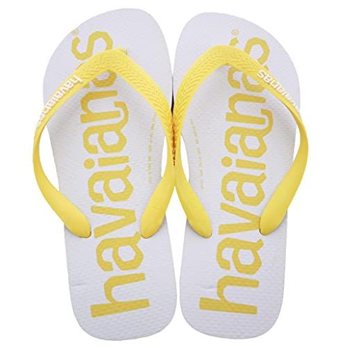 Havaianas Top Logomania, Chanclas Unisex Adulto, Gold Yellow, 43/44