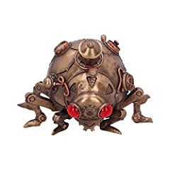 This bug has been modified with a plethora of gauges, pipes and gears. Cast in the finest resin. Given a bronzed finish. The perfect addition to any steampunk collection. Size 20 x 14.5 x 12.5cm