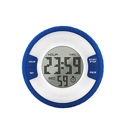 Anjing Kitchen Magnetic Timers with Digital Alarm Clock Timer Big Screen Loud Alarm Strong Magnet Blue