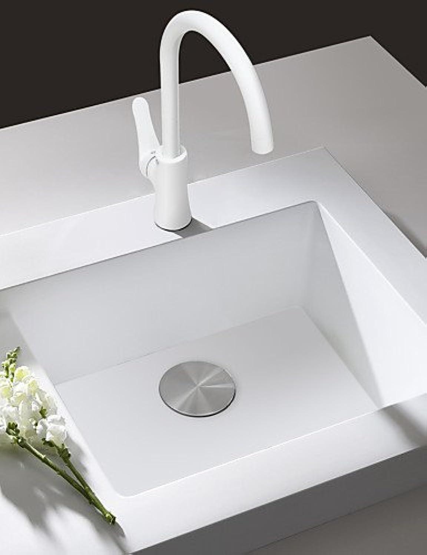 KHSKX Deck Mounted Sink Mixer Tap Kitchen Faucet White