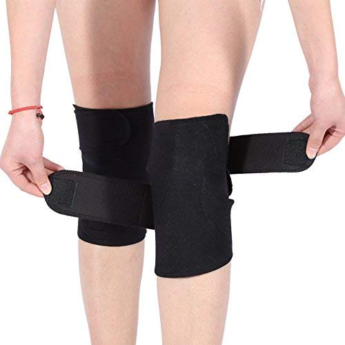 DEWIN Knee Brace - Knee Compression Sleeve, Tourmaline Self-Heating Magnetic Therapy Knee Protective Belt Knee Support, Arthritis Brace Support, 1 Pair