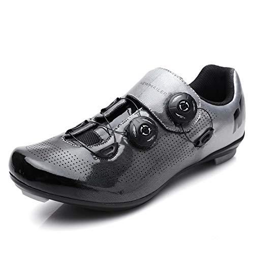 JRYⓇ Fahrradschuhe - Herren Rennrad Fahrradschuhe Mountainbike-Schuhe mit SPD-Stollen MTB Spin Indoor-Fahrradschuhe Atmungsaktive Outdoor-Fahrradschuhe