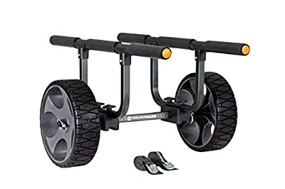 8070121 Wilderness Systems Heavy Duty Kayak Cart - Flat-Free Wheels, Black by Confluence Accessories