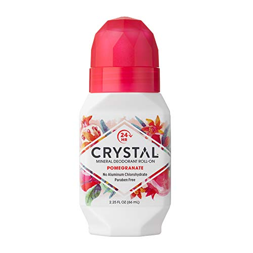 Crystal Essence Mineral Deodorant Roll-On, Pomegranate, 2.25 Ounce (Pack of 12) by French Transit Ltd.