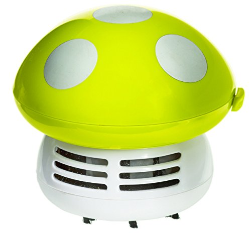 Imperial Home Cute Mushroom Handheld Vacuum - Crumbs Dust Mini Vacuum or Desk Vacuum (1, Green)