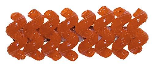 Barrette à cheveux en spirale orange - ERRO Crazy Clips multicolores - Superbe accessoire de mode - Barrette à cheveux