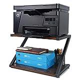 Printer Stand for Desk, Small Under Desk Printer Shelf , Vintage Wood Desktop Organization Storage for Printer, Printer Paper,Fax Machine, Books, Files, Compatible for HP, 3D Printer for Home & office