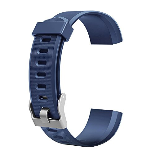 Demiawaking Cinturino di Ricambio Colorato Accessorio per ID115Plus HR Smart Watch (Blu)