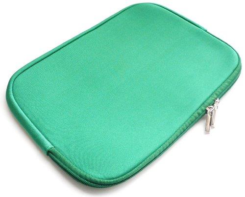 Emartbuy® Grün Water Resistant Neopren Soft Zip Case Cover geeignet für Dell Precision M4800 15.6 Zoll Workstation (15-16 Zoll Laptop/Notebook / Ultrabook)