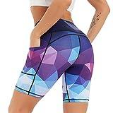 COOLOMG Damen Kurze Laufhose Yoga Shorts mit Taschen Radlerhose Sporthose Gym Fitness Workout...