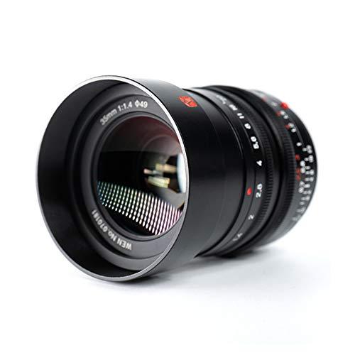 Lente de marco completo 7Artisans M35mm f1.4 compatible con cámaras Leica M-Mount Leica SL, TL, CL Series sin espejo (con anillo adaptador Leica M-NEX (M-E))