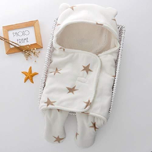 QWERTYU LIFUQIANGME kinderslaapzak winterslaapzak voor de winter, warme slaapzak voor kinderen, accessoires, beddengoed, maat L 78 x 86 cm (Blue Star), White Camel Star
