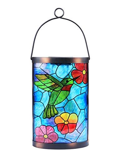 Solar Lantern Outdoor Hanging Lights Waterproof Decorative Lanterns Hummingbird Lights LED Lights Lamps for Garden Outdoor Patio Decor
