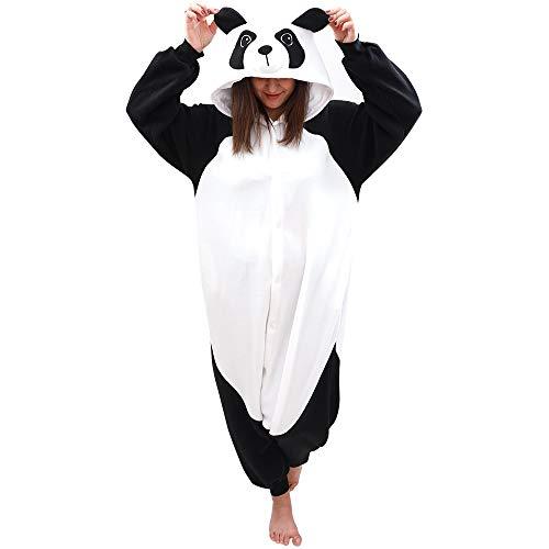 Animal Onesie Panda Pajamas- Plush One Piece Costume (Large, Black/White)