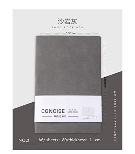 xiaofeng214 A6 Cuadernos y libretas Bloc de Notas Carpeta planificador Diario Agenda 2020 2021 Material for Oficina Escuela Sketchbook for Estudiantes (2pcs) (Color : Sandstone Grey)