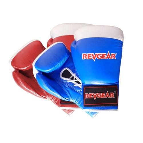 Revgear Amateur Boxing Lace Glove (Blue, 10-Ounce)
