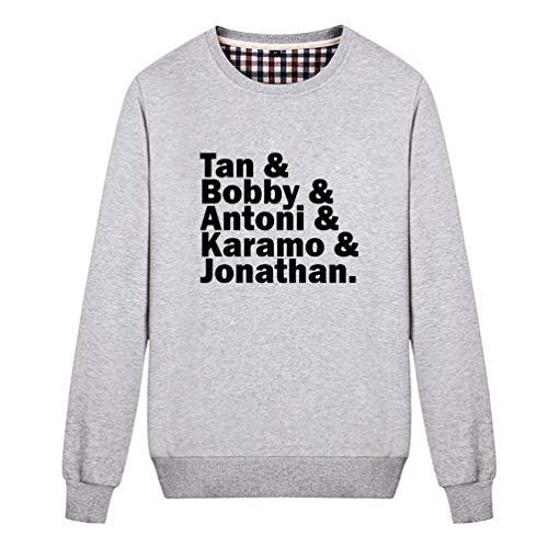 Fashion Night Unisex Queer Eye Name Funny Graphic Sweatshirt (Grey Large)