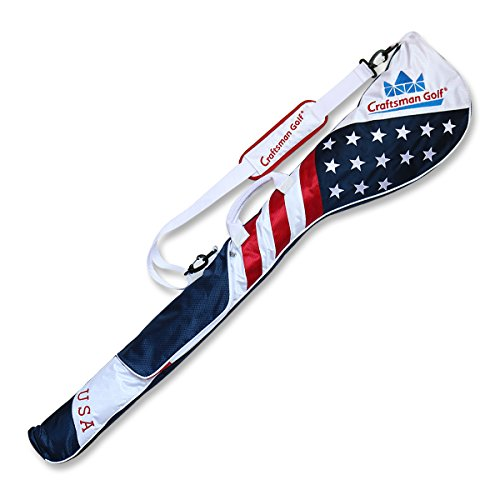 Craftsman Golf Stars and Stripes American USA US Flag Club Case Sunday Bag Red White Blue for 67 Clubs 49quot