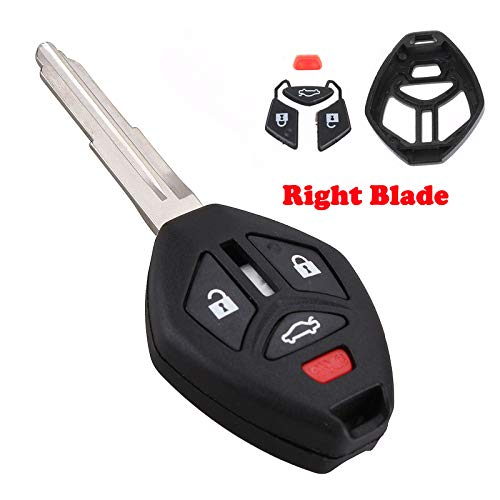 Heart Horse Keyless Entry Remote Fob Key for Mitsubishi Galant Eclipse Spyder Lancer Endeavor Outlander 2007-2012 Cover Case Replacement,Replace OUCG8D620MA(NO Chip)
